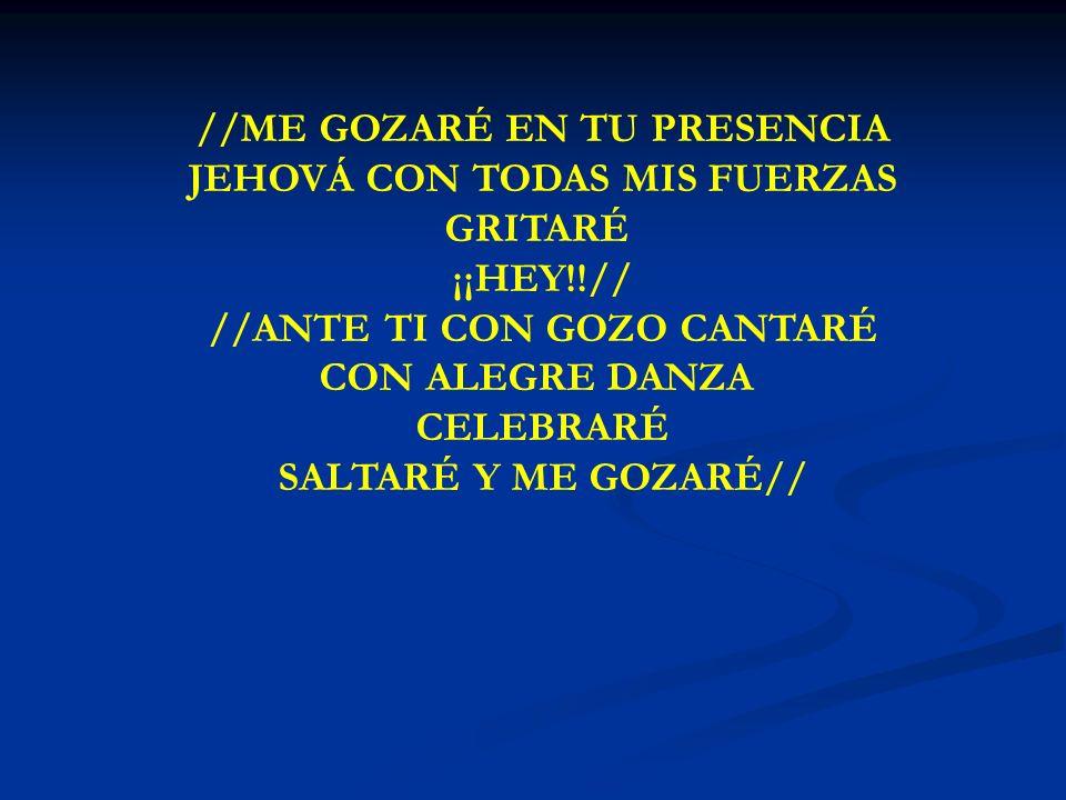 ME GOZARE GRITARÉ SALTARÉ Y ME GOZARÉ//