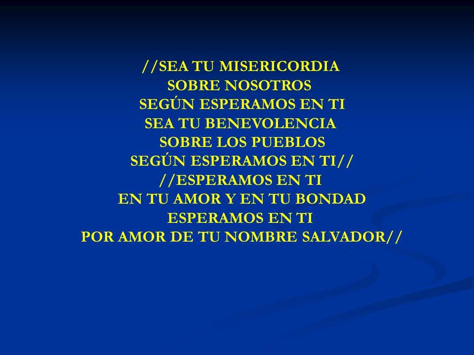 POR AMOR DE TU NOMBRE SALVADOR//