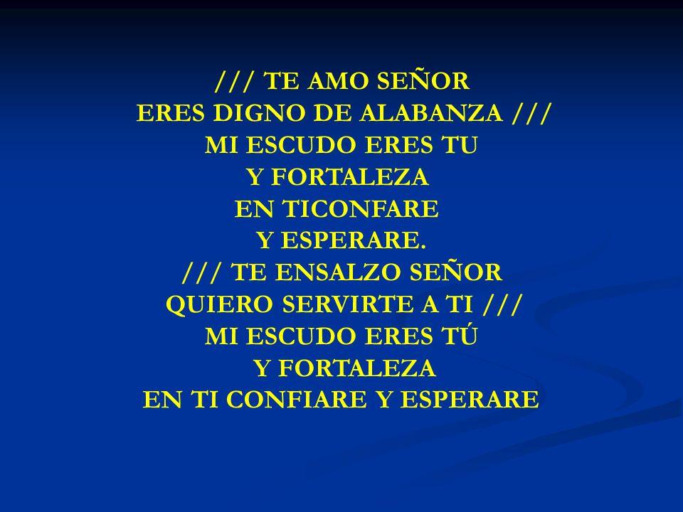 ERES DIGNO DE ALABANZA /// MI ESCUDO ERES TU Y FORTALEZA EN TICONFARE