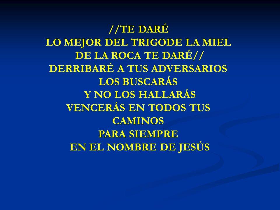 LO MEJOR DEL TRIGODE LA MIEL DE LA ROCA TE DARÉ//