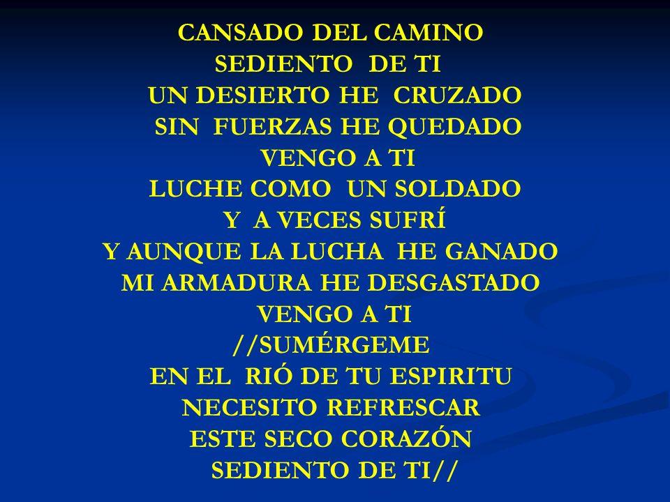 CANSADO DEL CAMINO SEDIENTO DE TI//
