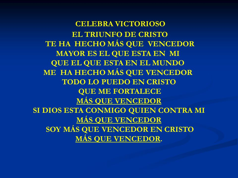 CELEBRA VICTORIOSO CELEBRA VICTORIOSO EL TRIUNFO DE CRISTO