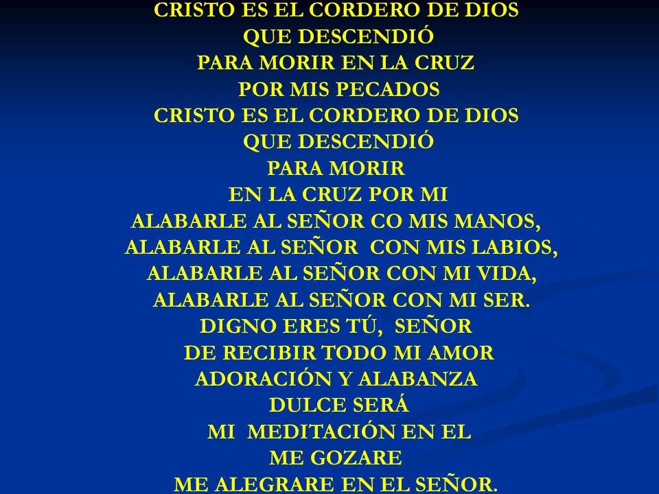 CRISTO ES EL CORDERO DE DIOS