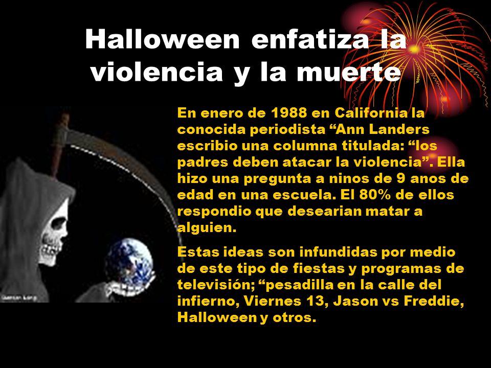 Halloween enfatiza la violencia y la muerte