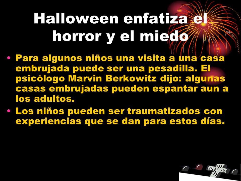 Halloween enfatiza el horror y el miedo
