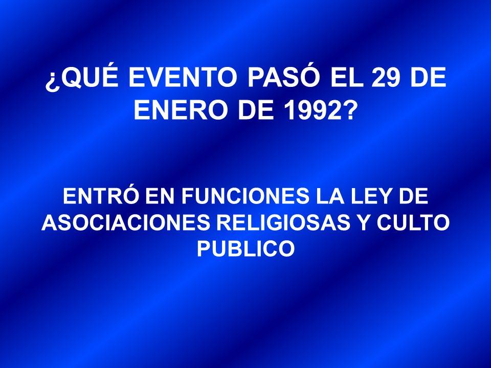¿QUÉ EVENTO PASÓ EL 29 DE ENERO DE 1992