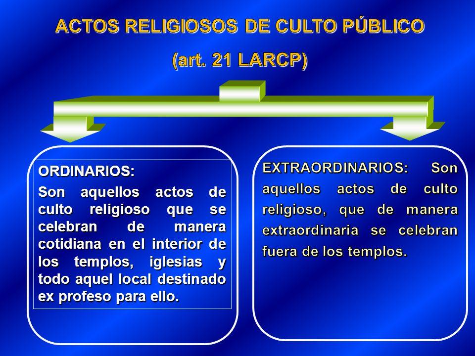 ACTOS RELIGIOSOS DE CULTO PÚBLICO