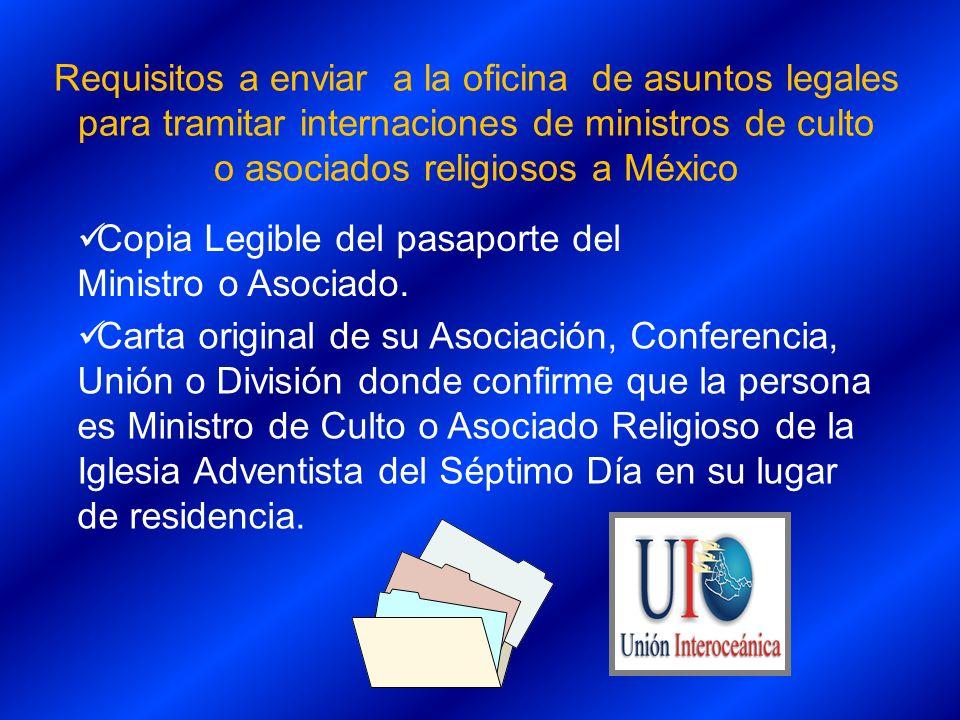 o asociados religiosos a México
