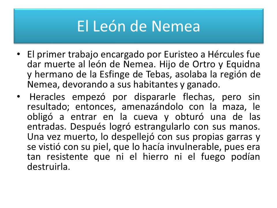 El León de Nemea