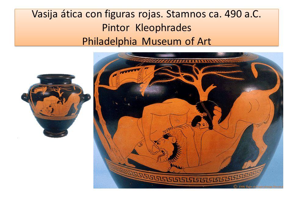 Vasija ática con figuras rojas. Stamnos ca. 490 a. C