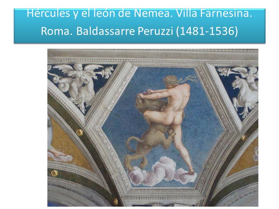 Hércules y el león de Nemea. Villa Farnesina. Roma
