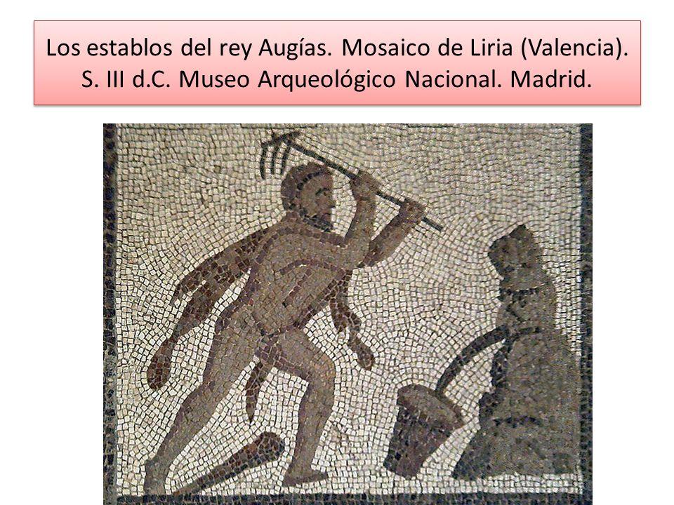Los establos del rey Augías. Mosaico de Liria (Valencia). S. III d. C