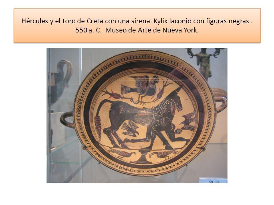 Hércules y el toro de Creta con una sirena