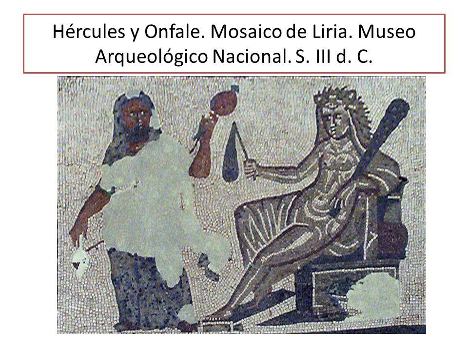 Hércules y Onfale. Mosaico de Liria. Museo Arqueológico Nacional. S