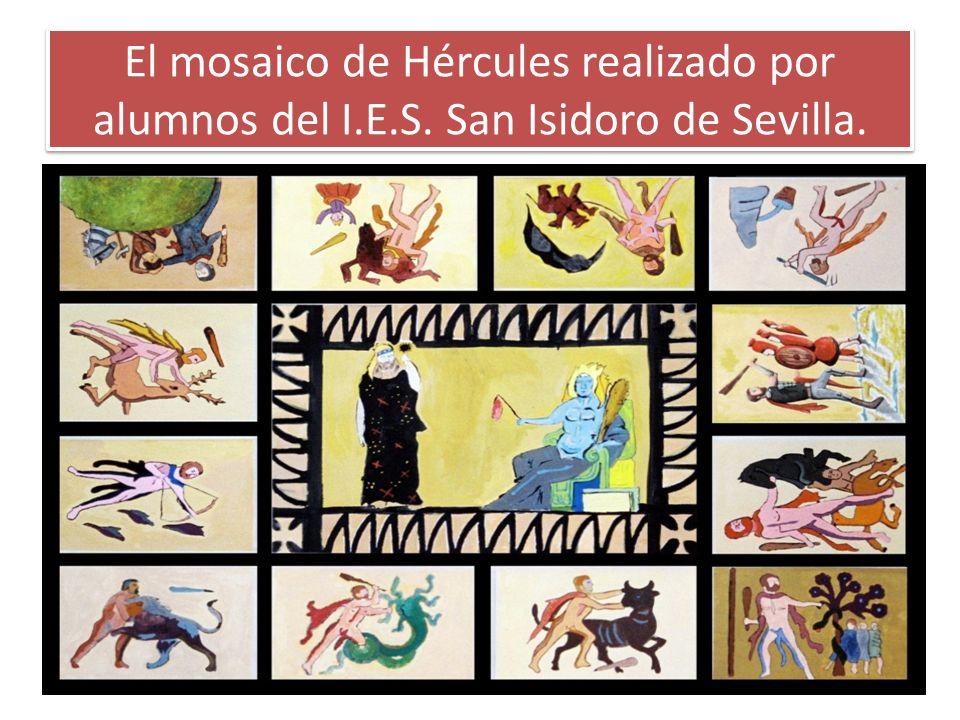 El mosaico de Hércules realizado por alumnos del I. E. S