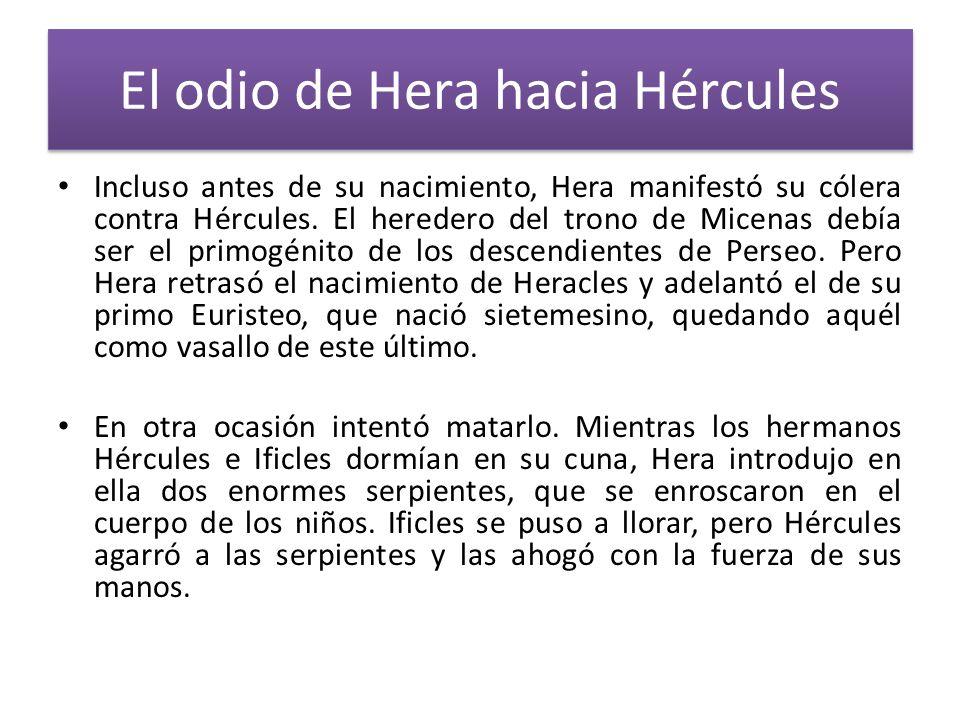 El odio de Hera hacia Hércules
