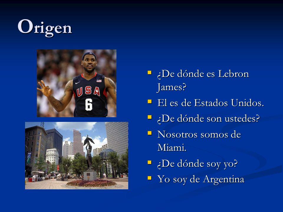 Origen ¿De dónde es Lebron James El es de Estados Unidos.