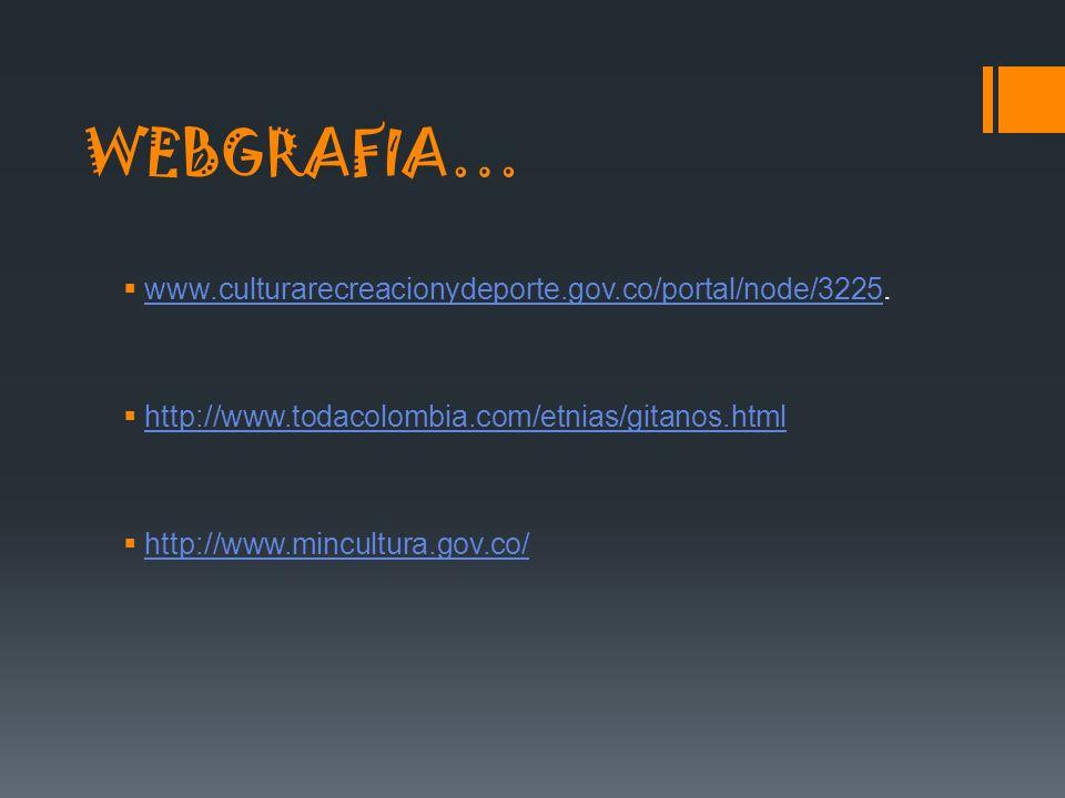WEBGRAFIA… www.culturarecreacionydeporte.gov.co/portal/node/3225.