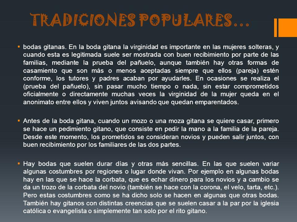 TRADICIONES POPULARES…