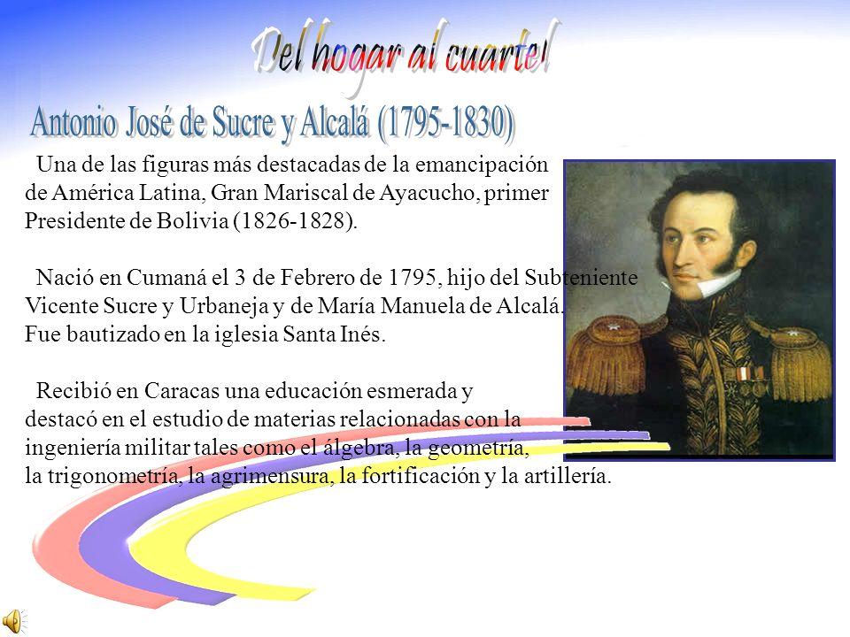 Antonio José de Sucre y Alcalá (1795-1830)