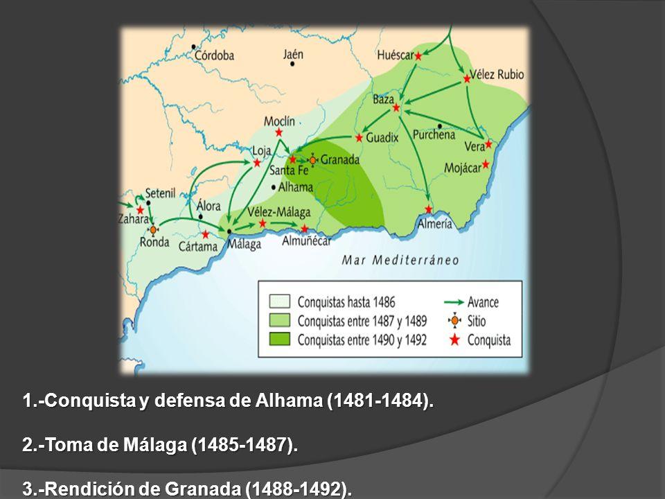 1.-Conquista y defensa de Alhama (1481-1484).