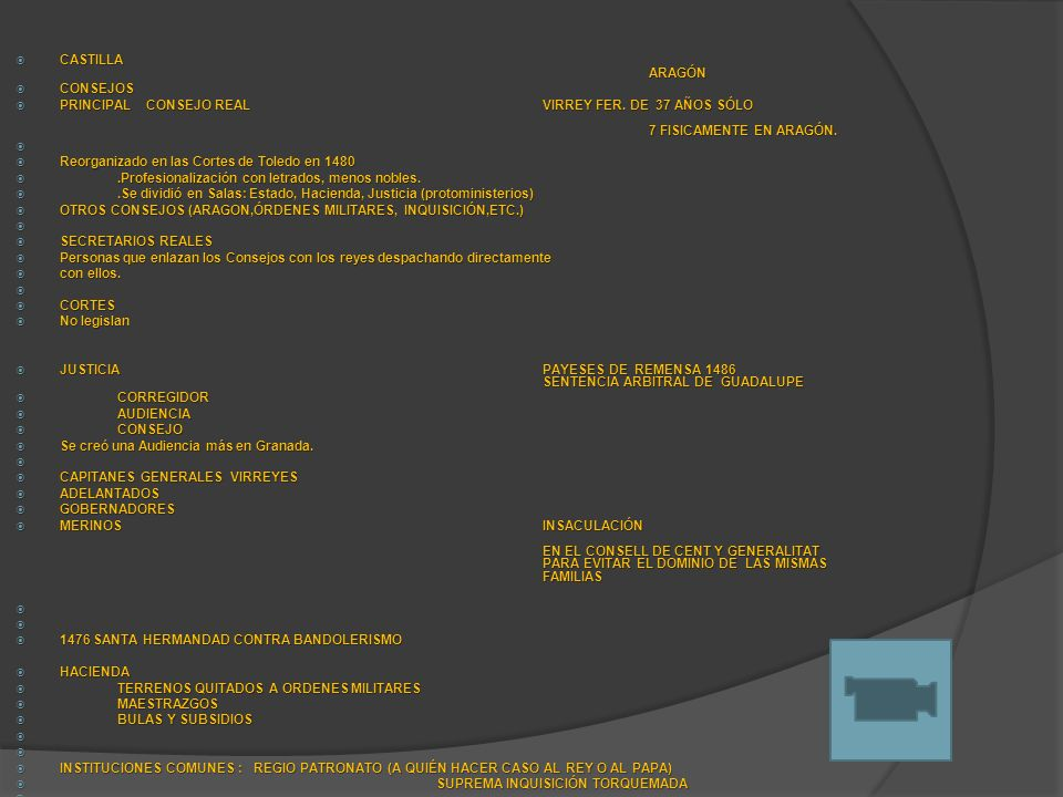 CASTILLA ARAGÓN CONSEJOS. PRINCIPAL CONSEJO REAL VIRREY FER. DE 37 AÑOS SÓLO 7 FISICAMENTE EN ARAGÓN.
