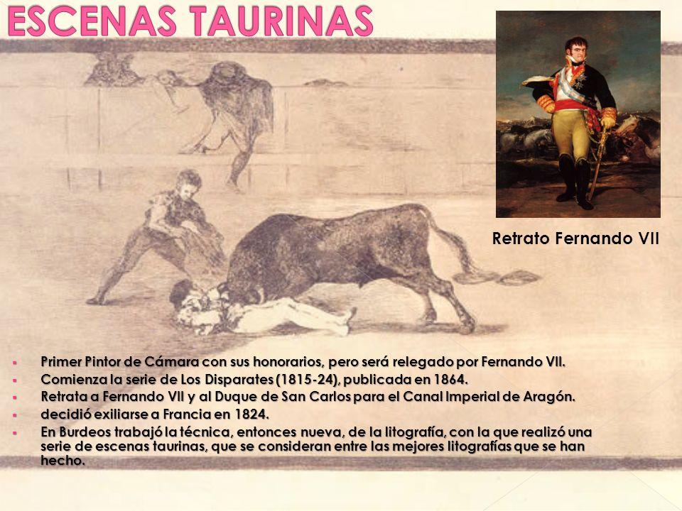 ESCENAS TAURINAS Retrato Fernando VII