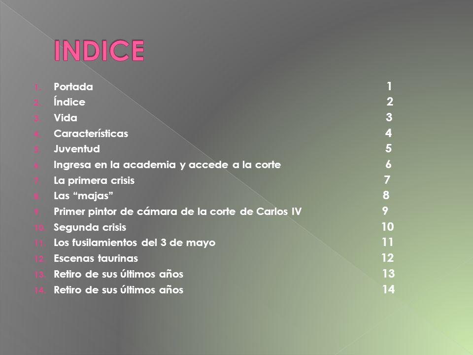 INDICE Portada 1 Índice 2 Vida 3 Características 4 Juventud 5