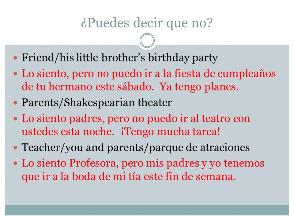 ¿Puedes decir que no Friend/his little brother's birthday party