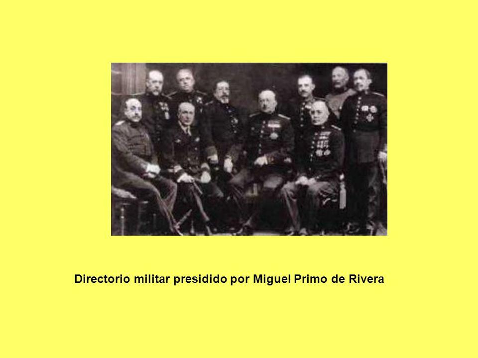 Directorio militar presidido por Miguel Primo de Rivera