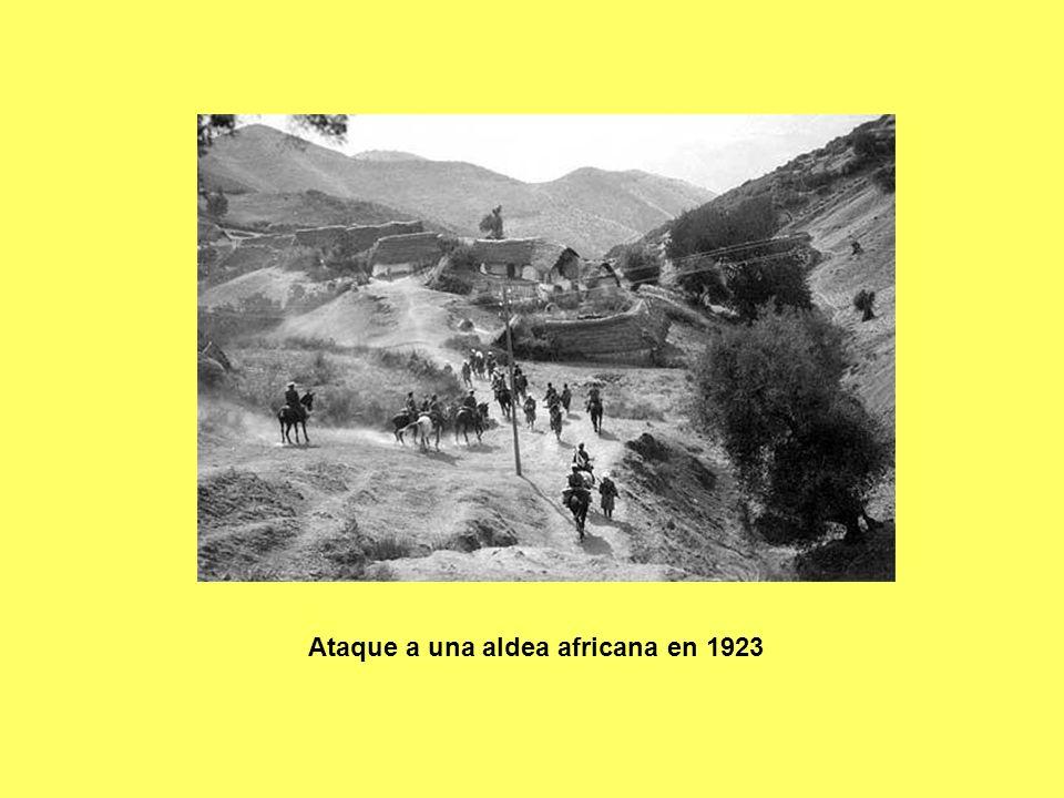 Ataque a una aldea africana en 1923