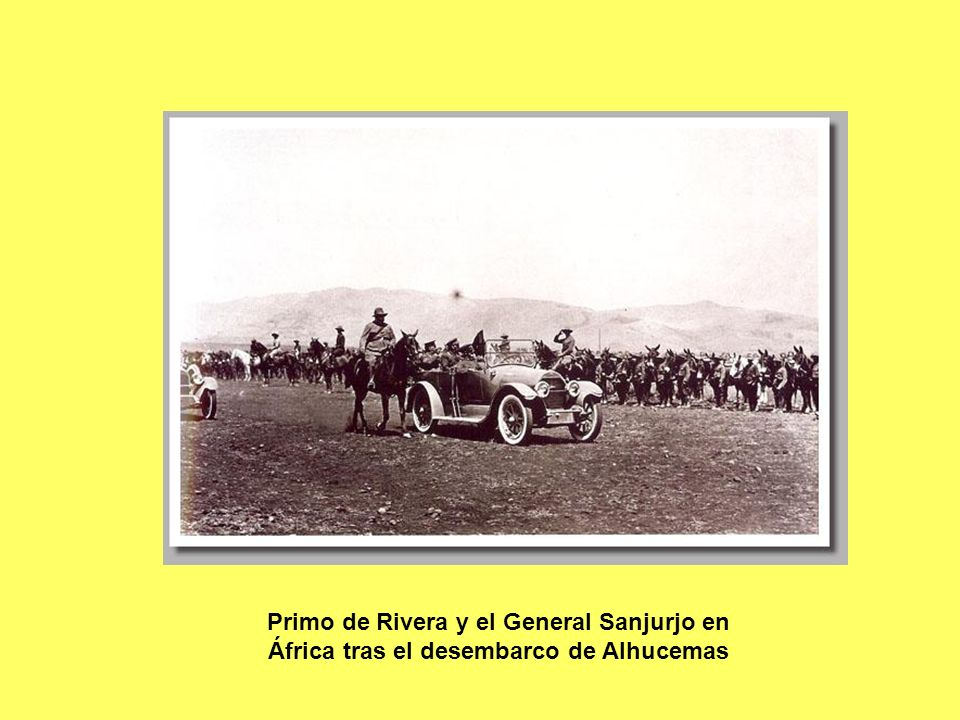 Primo de Rivera y el General Sanjurjo en África tras el desembarco de Alhucemas