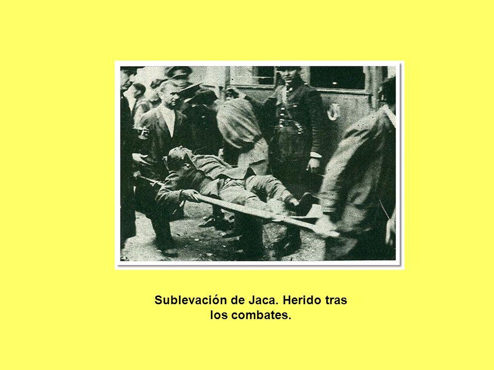 Sublevación de Jaca. Herido tras los combates.