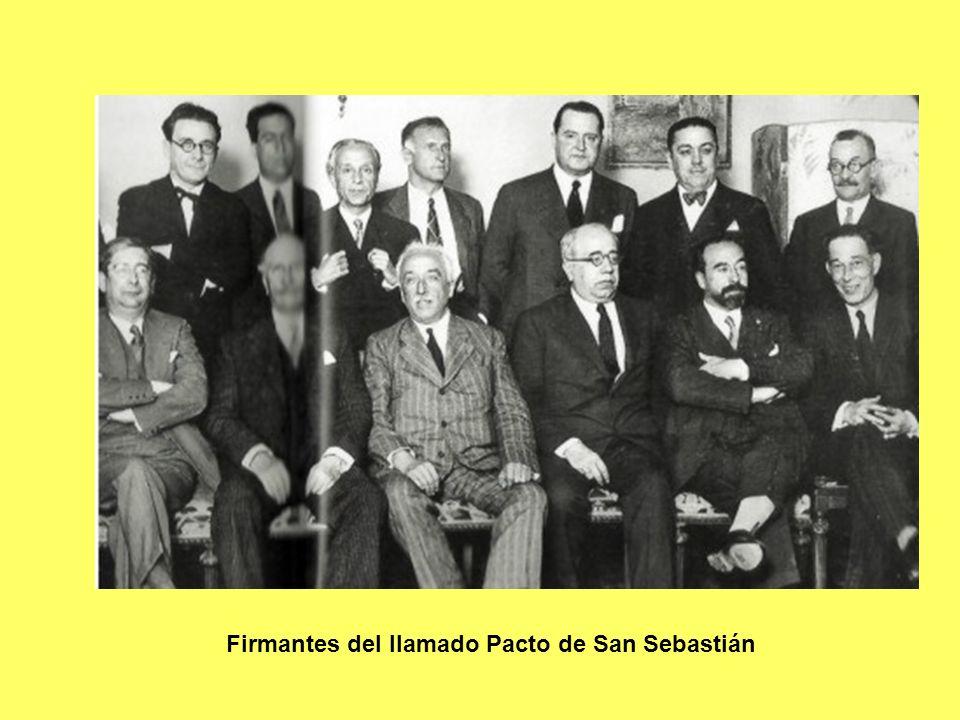 Firmantes del llamado Pacto de San Sebastián