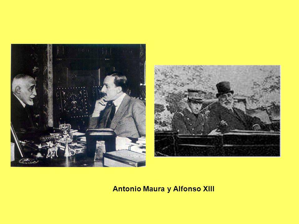 Antonio Maura y Alfonso XIII