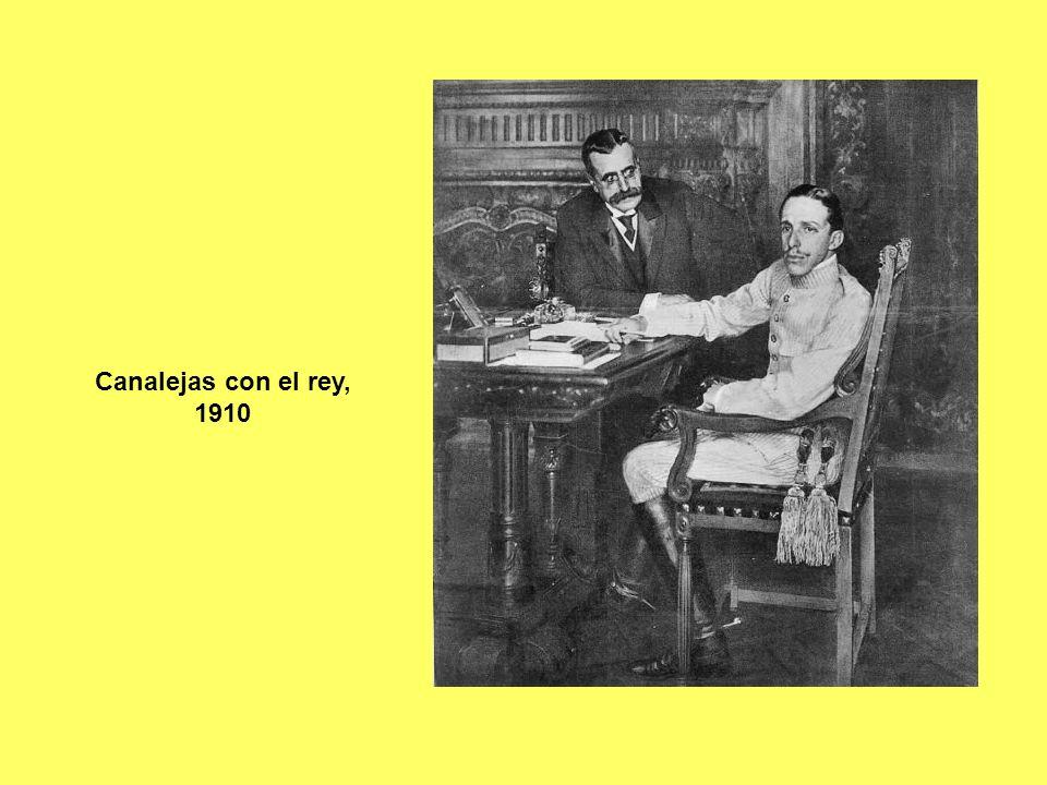 Canalejas con el rey, 1910