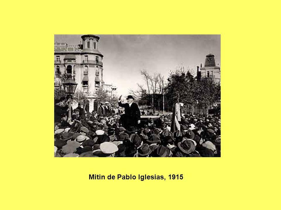 Mitin de Pablo Iglesias, 1915