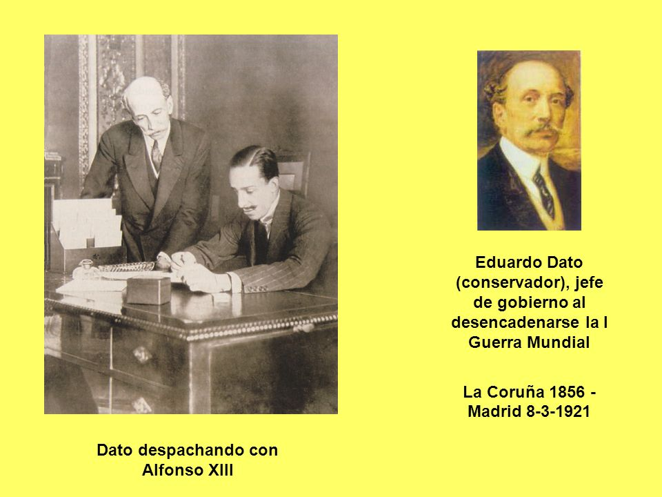 Dato despachando con Alfonso XIII