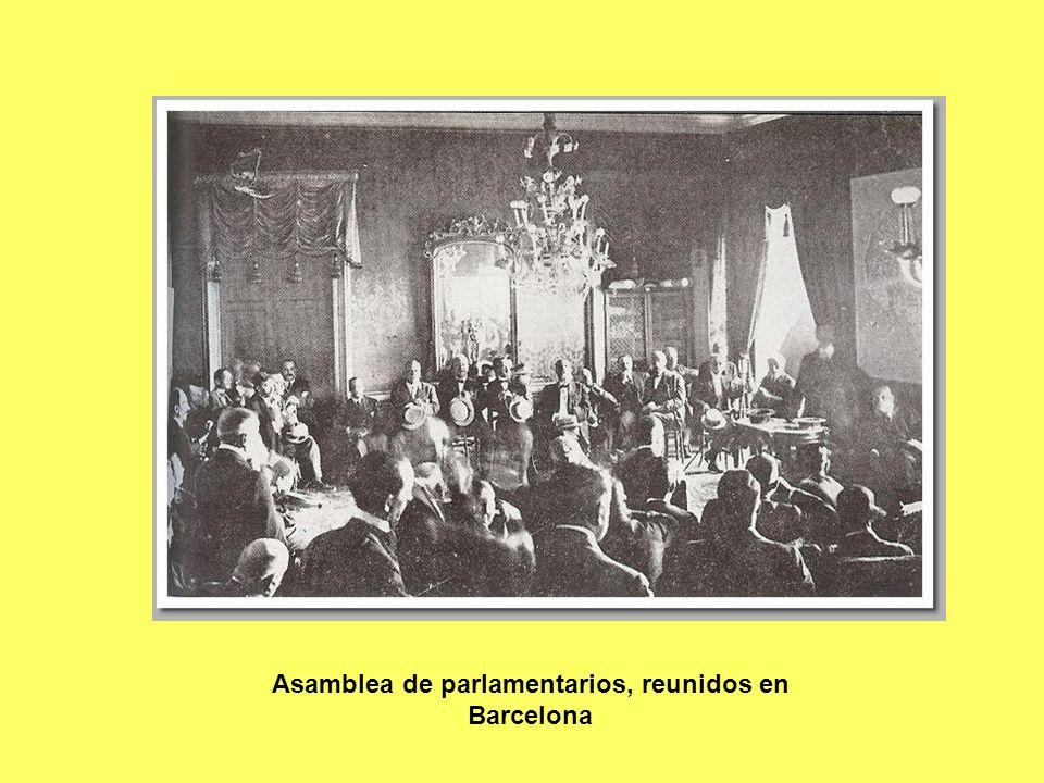 Asamblea de parlamentarios, reunidos en Barcelona
