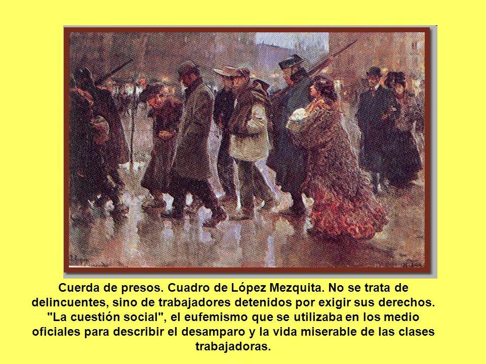 Cuerda de presos. Cuadro de López Mezquita