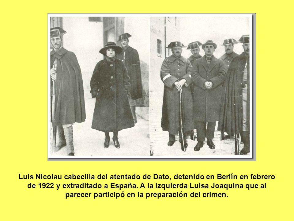Luis Nicolau cabecilla del atentado de Dato, detenido en Berlín en febrero de 1922 y extraditado a España.