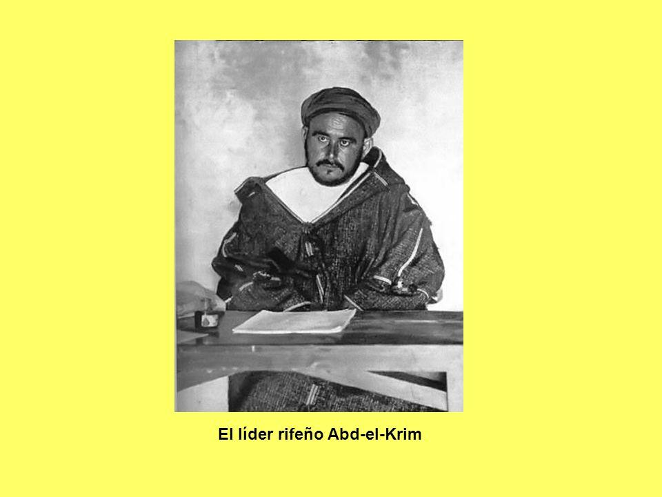 El líder rifeño Abd-el-Krim