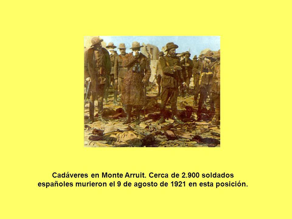 Cadáveres en Monte Arruit. Cerca de 2