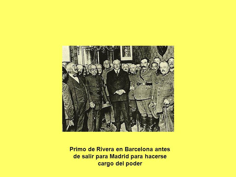 Primo de Rivera en Barcelona antes de salir para Madrid para hacerse cargo del poder