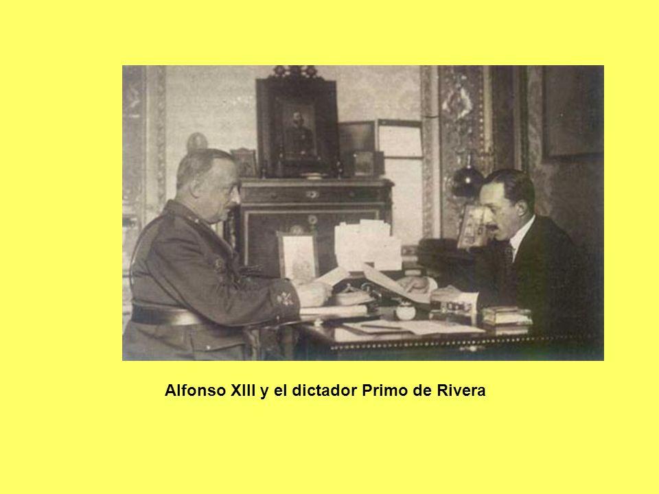Alfonso XIII y el dictador Primo de Rivera