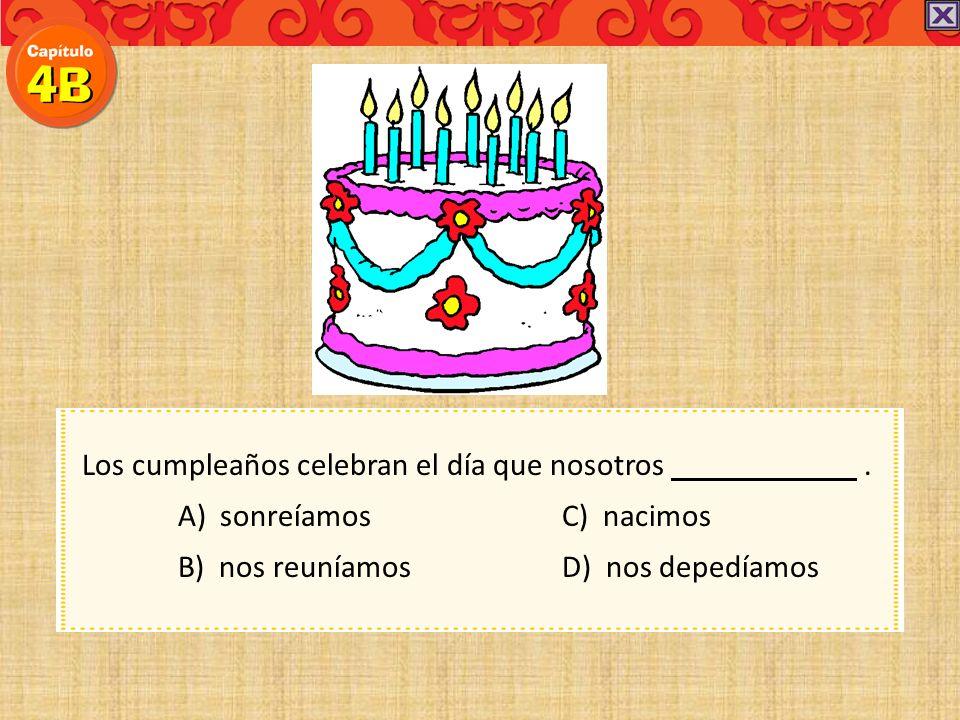 Los cumpleaños celebran el día que nosotros .