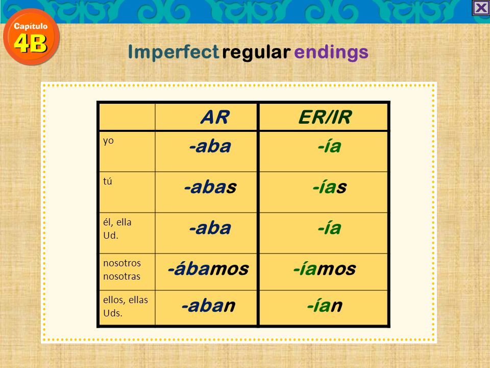 Imperfect regular endings