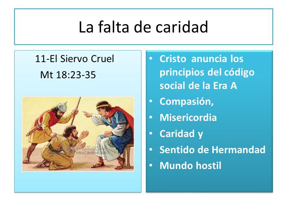 La falta de caridad 11-El Siervo Cruel Mt 18:23-35