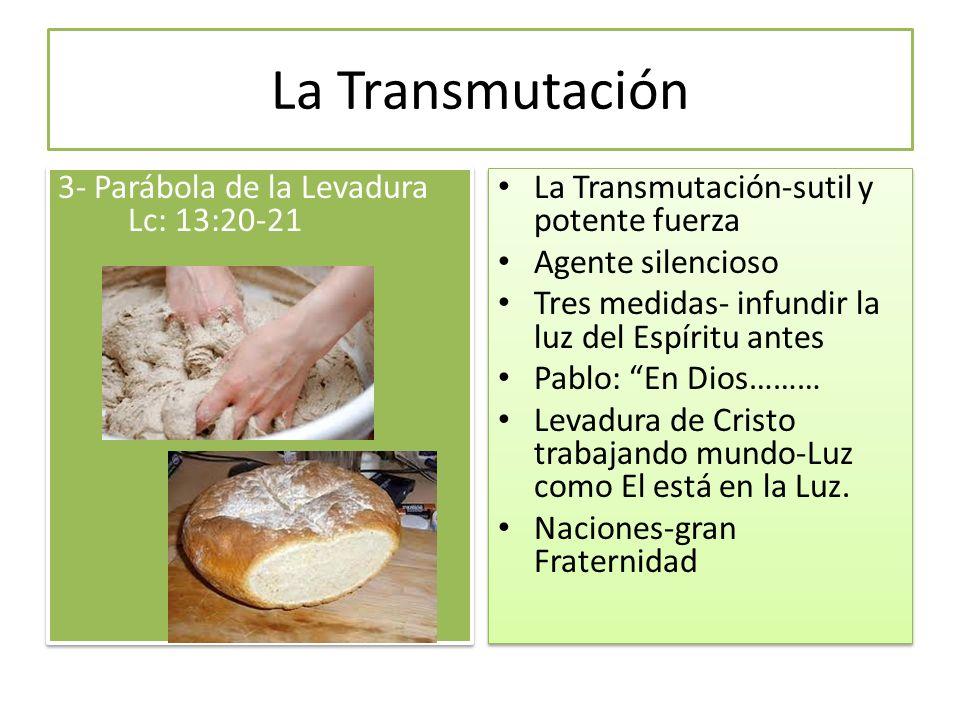La Transmutación 3- Parábola de la Levadura Lc: 13:20-21