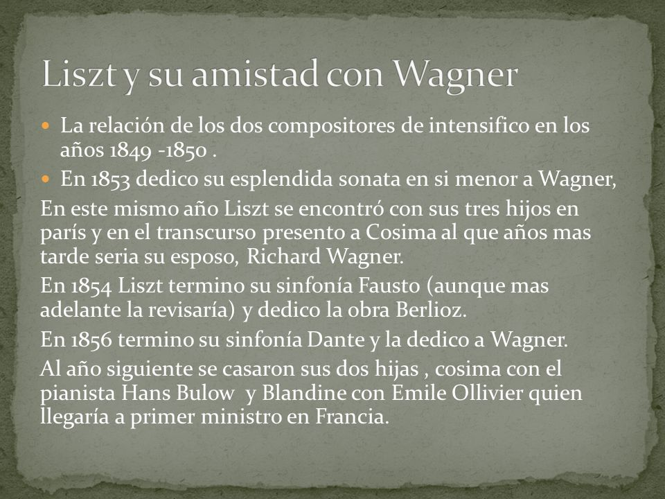 Liszt y su amistad con Wagner